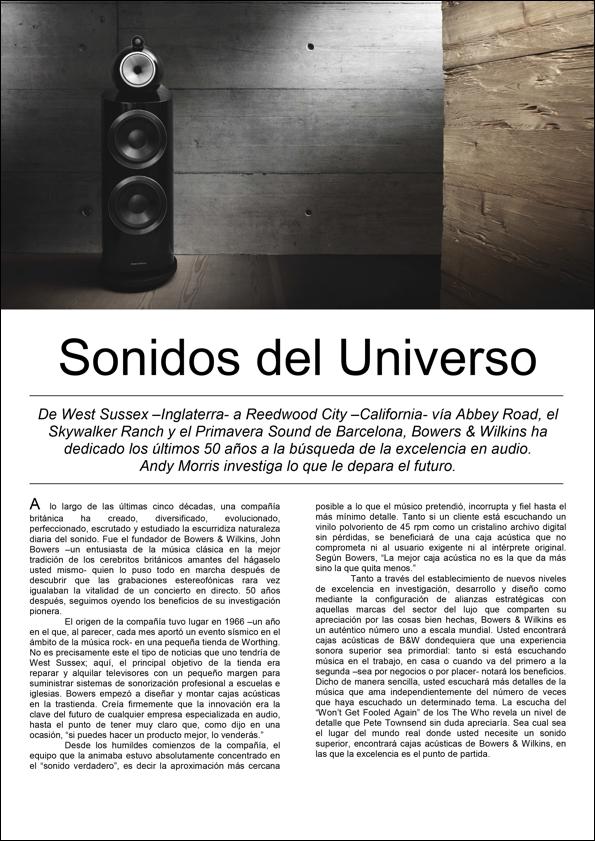 50 Aniversario de Bowers & Wilkins: Sonidos del Universo