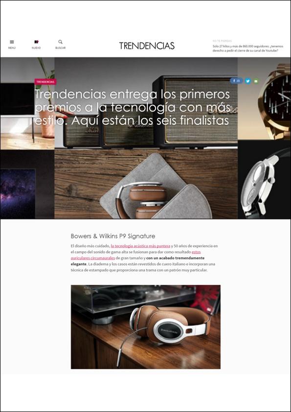 P9 Signature: Premio TRENDENCIAS a la Tecnología con más Estilo