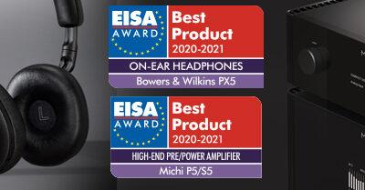 Los auriculares Bowers & Wilkins PX5 y el conjunto Rotel Michi P5/S5 ganan Premios EISA