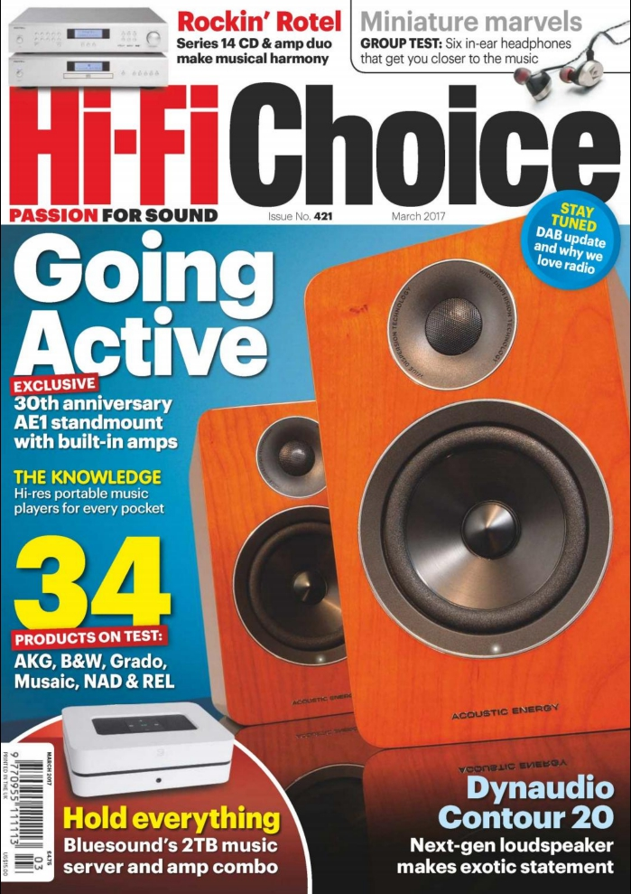 5 estrellas para el reproductor CD14 y el amplificador integrado A14 de ROTEL en Hi Fi Choice de Marzo 2017