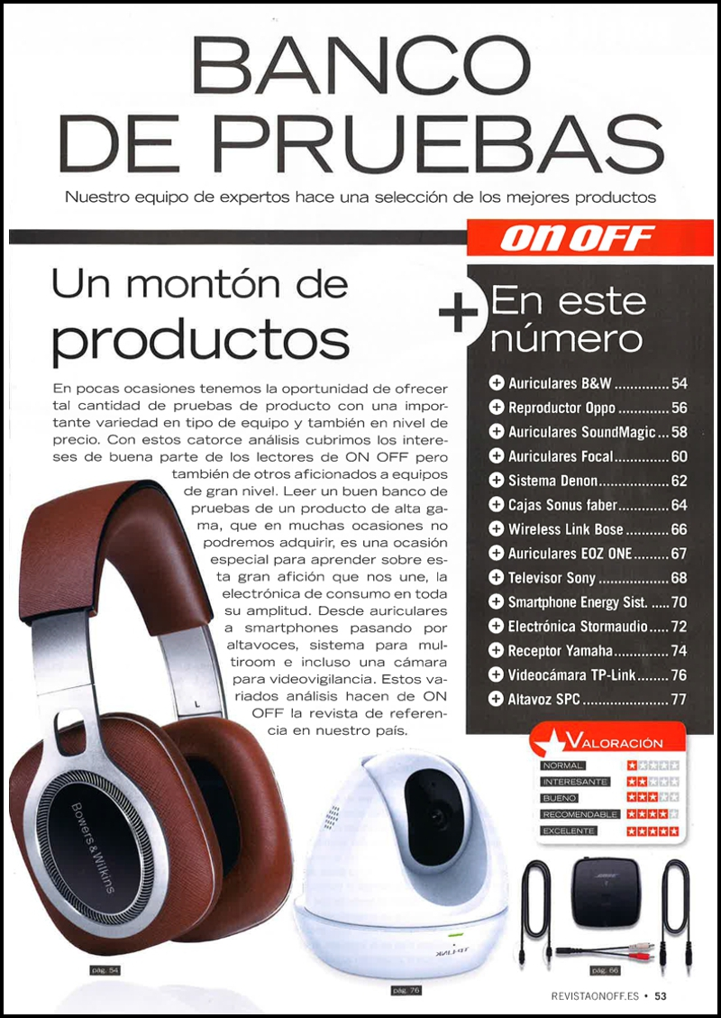 ON OFF 291 Bowers & Wilkins P9 Signature