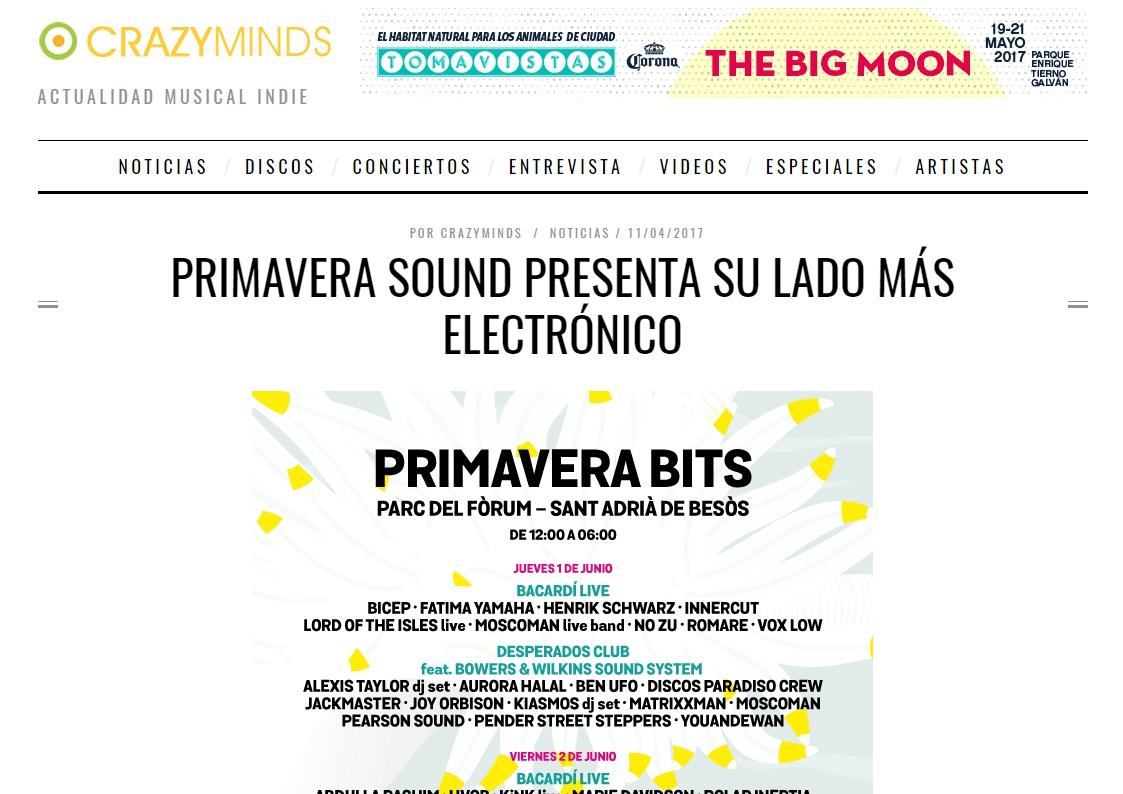 crazyminds: El ya clásico Bowers & Wilkins Sound System, reedita su colaboración anual con el festival.